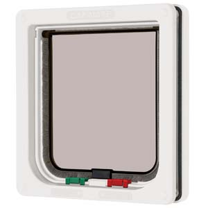 4 Way Locking Cat Flap White