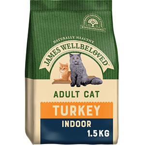 JAMES WELLBELOVED INDOOR CAT TURKEY 1.5KG