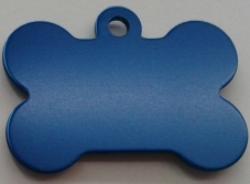 Aluminium Blue Bone Pet Tag