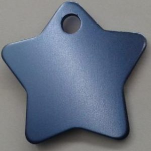 Aluminium Light Blue Star Pet Tag