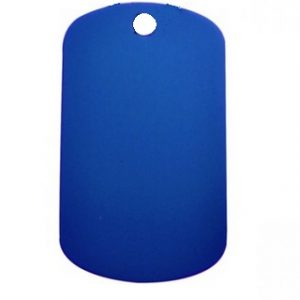 Aluminium Oblong Dog Tag Blue