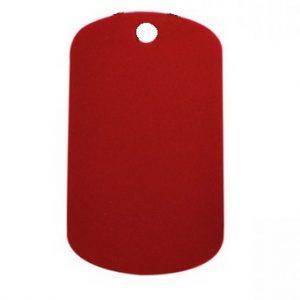 Aluminium Oblong Dog Tag Red