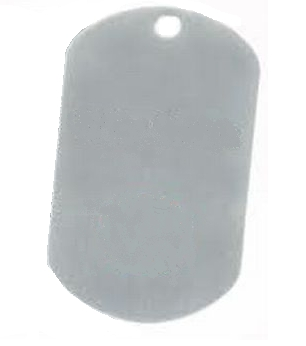 Aluminium Oblong Dog Tag Silver