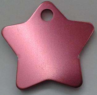 Aluminium Pink Star Pet Tag