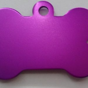 Aluminium Purple Bone Pet Tag
