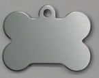 Aluminium Silver Bone Pet Tag