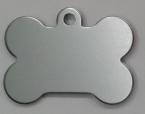 Aluminium Silver Bone Pet Tag