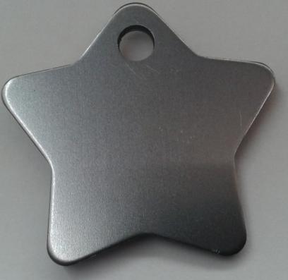 Aluminium Silver Star Pet Tag