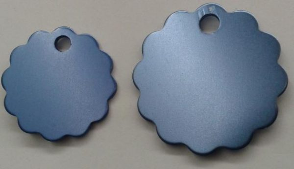 Aluminium Small Light Blue Cloud Pet Tag