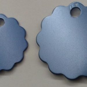 Aluminium Large Light Blue Cloud Pet Tag