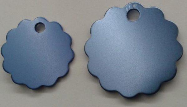 Aluminium Large Light Blue Cloud Pet Tag