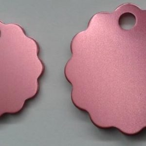 Aluminium Largel Pink Cloud Pet Tag