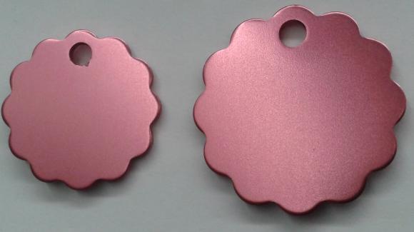 Aluminium Largel Pink Cloud Pet Tag