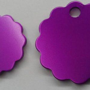 Aluminium Large Purple Cloud Pet Tag