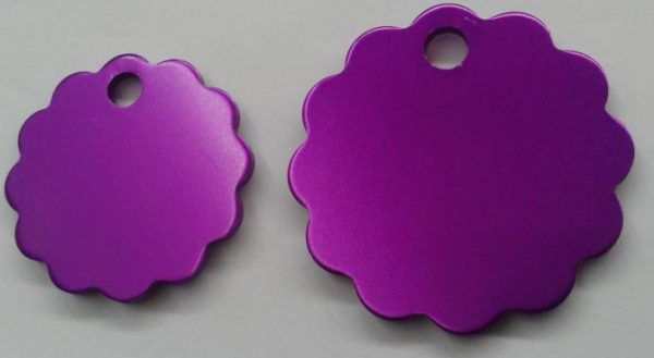 Aluminium Large Purple Cloud Pet Tag