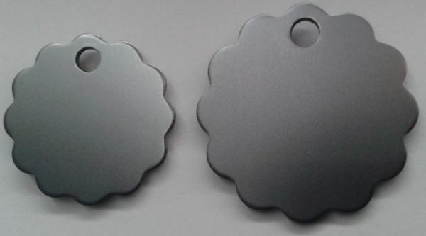 Aluminium Small Silver Cloud Pet Tag