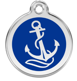 Anchor Enamel Pet Tag Medium