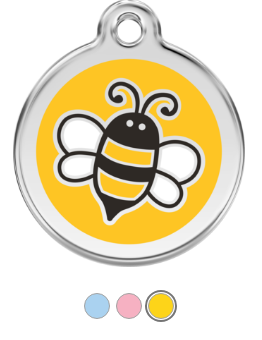 Bumble Bee Enamel Pet Tag Medium