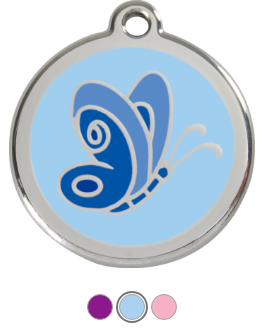 Butterfly Enamel Pet Tag Medium