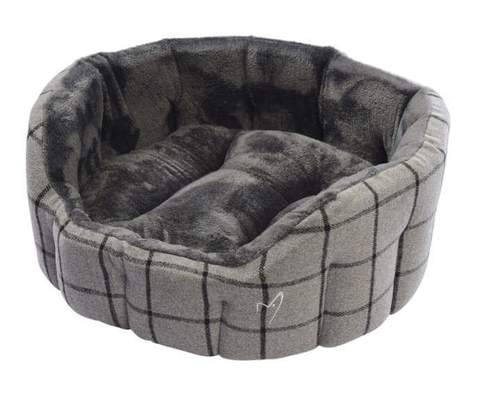 Camden Deluxe Bed Large Grey Check