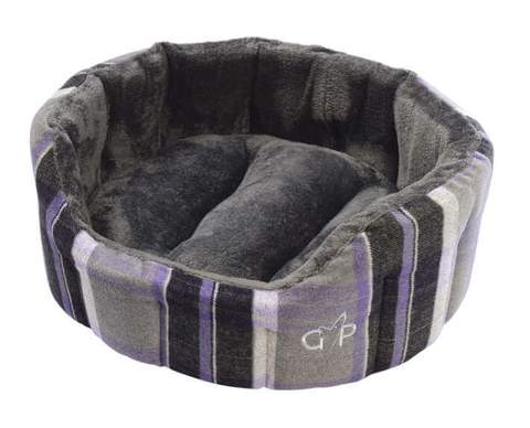 Camden Deluxe Bed Small Purple Check