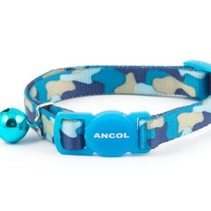 Camouflage Cat Collar Blue