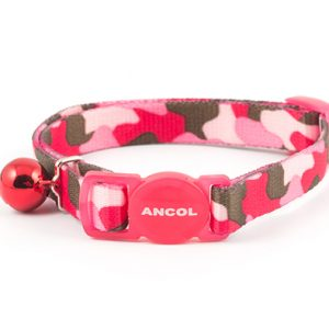 Camouflage Cat Collar Pink