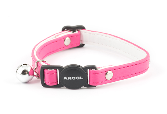 Cat Collar with Jewels Cerise Pink