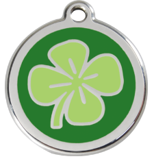 Clover Leaf Enamel Pet Tag Medium