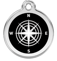 Compass Enamel Pet Tag Medium