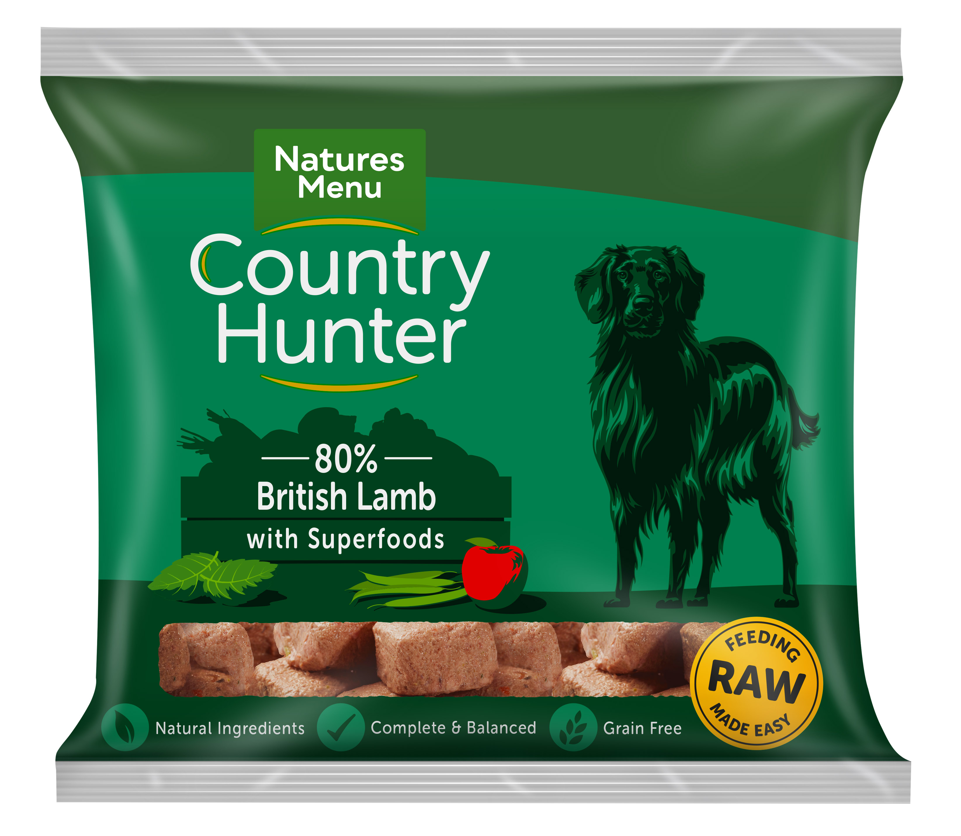 Country Hunter Raw Nuggets British Lamb 1kg