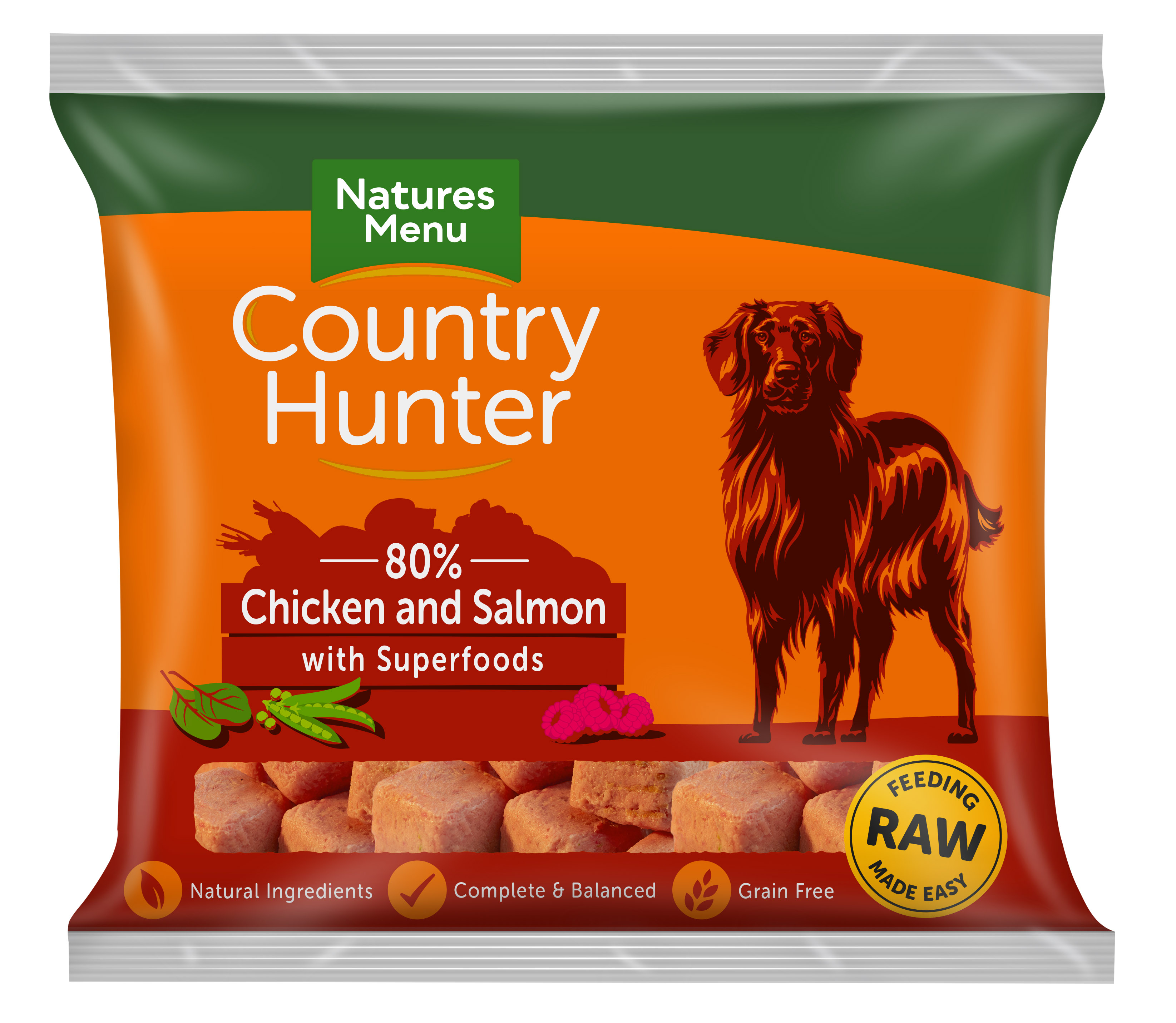 Country Hunter Raw Nuggets Chicken with Salmon 1kg