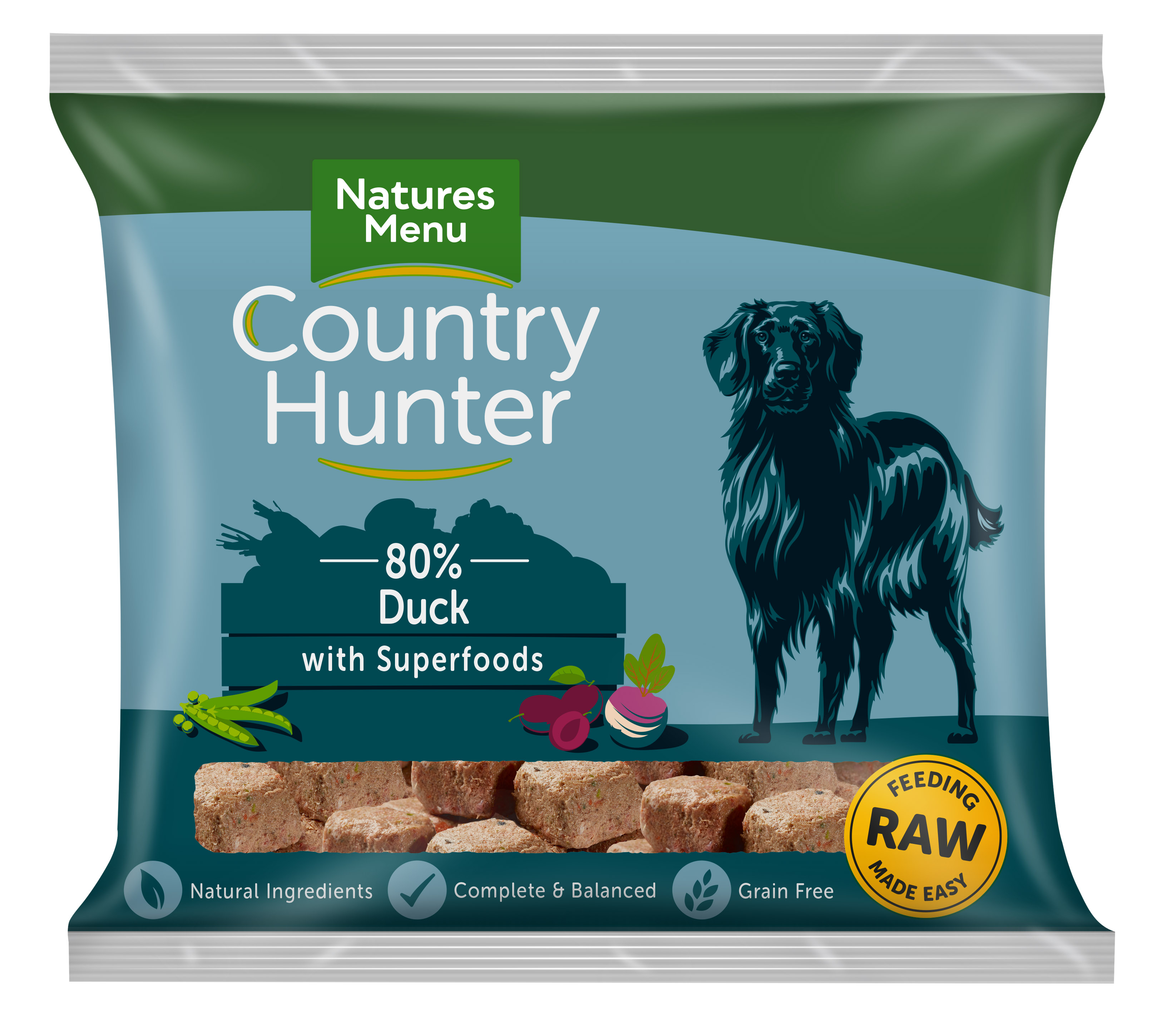 Country Hunter Raw Nuggets Duck with Plum 1kg