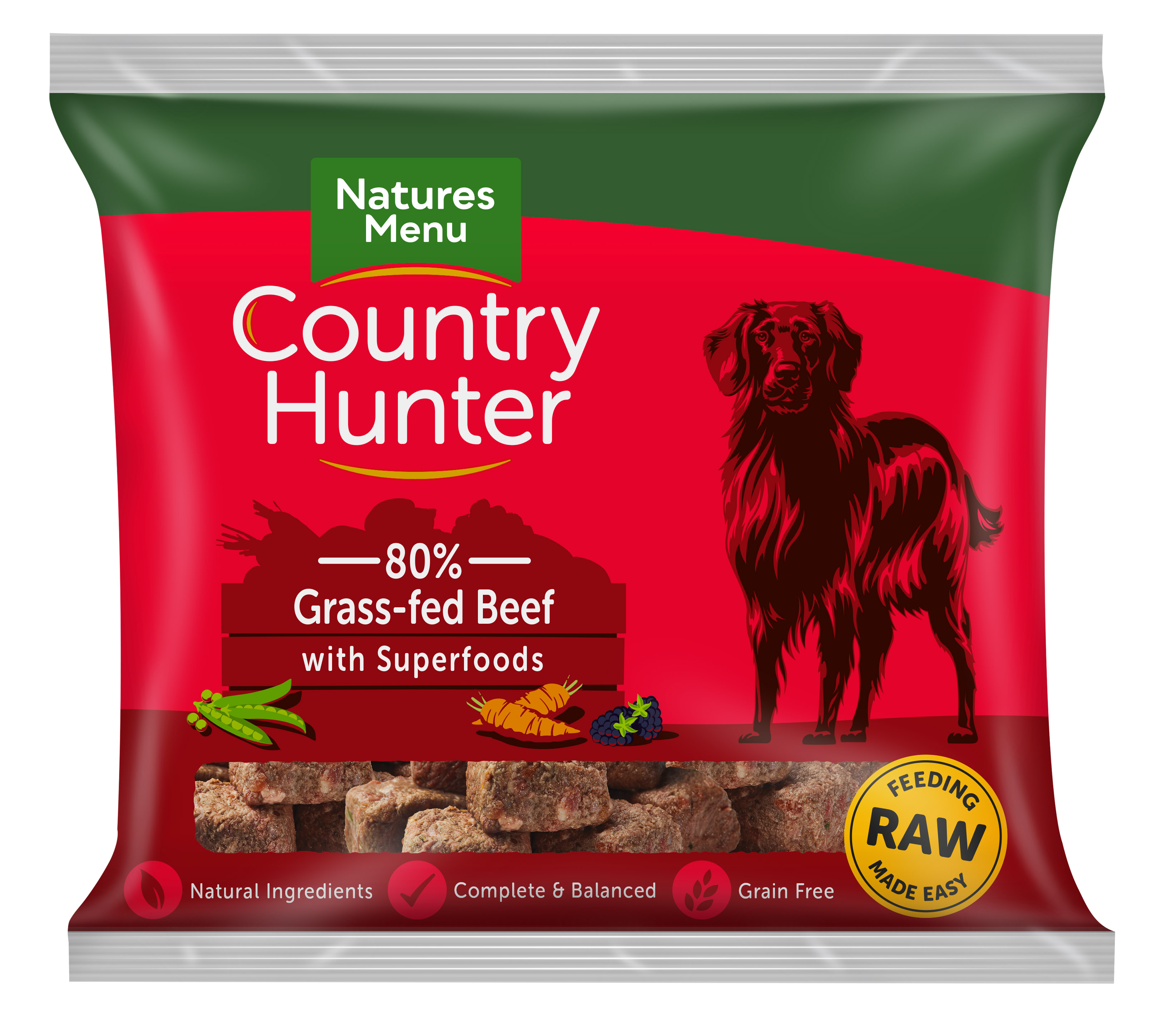 Country Hunter Raw Nuggets Grass Fed Beef 1kg