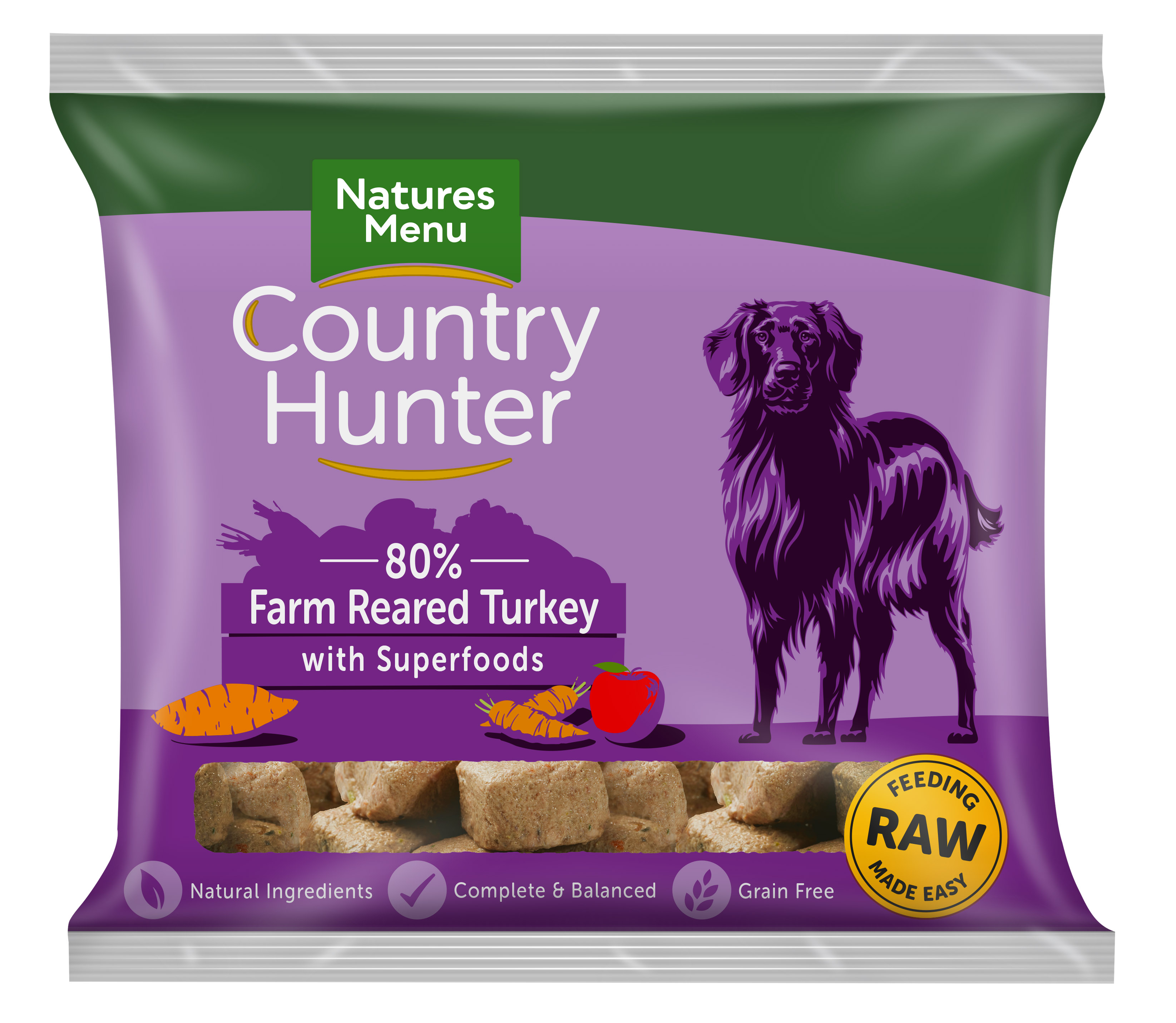 Country Hunter Raw Nuggets Turkey 1kg