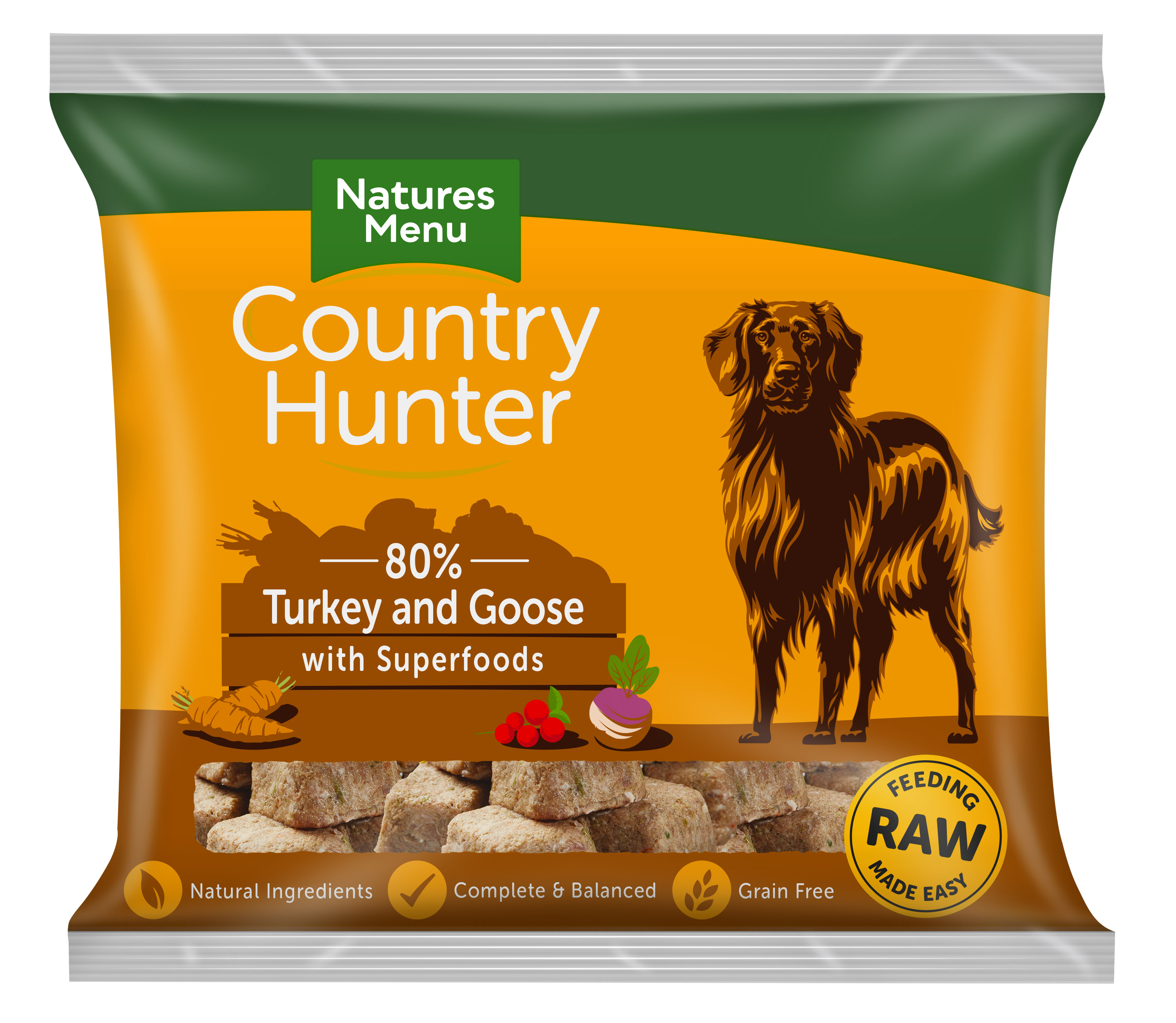 Country Hunter Raw Nuggets Turkey & Goose 1kg