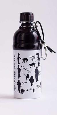 Dog Water Bottle Black & White 500ml