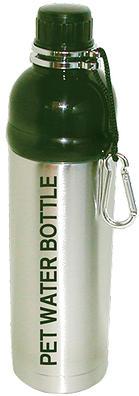 Dog Water Bottle Silver 750ml