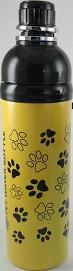 Dog Water Bottle Yellow 750ml