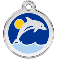 Dolphin Enamel Pet Tag Medium