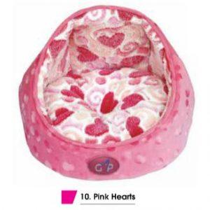 Elan Cat Bed Pink Hearts