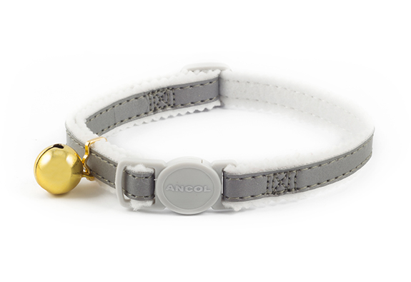 Elasticated Cat Collar Silver