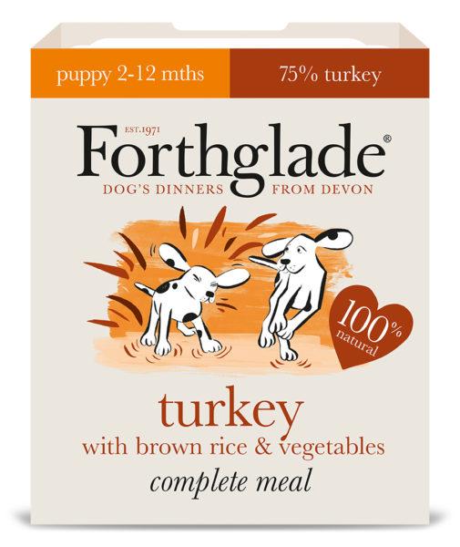 Forthglade Puppy Turkey, Brown Rice & Veg 395g