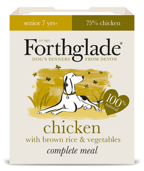 Forthglade Senior Chicken, Brown Rice & Veg 395g