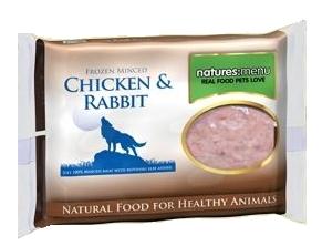 Frozen Minced Rabbit & Chicken 400g