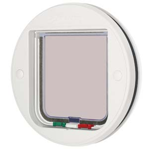 Glass Fitting Cat Flap White