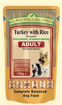 James Wellbeloved Adult Pouch Turkey