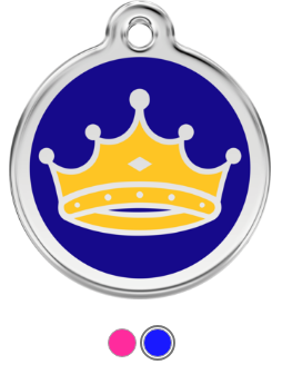 King & Queen Crown Enamel Pet Tag Medium