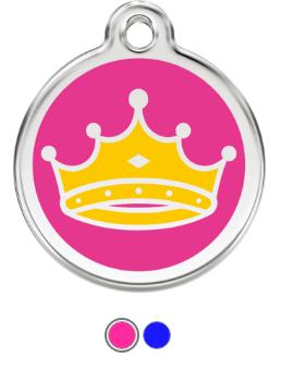 King & Queen Crown Enamel Pet Tag Medium