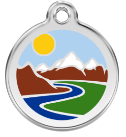 Mountain Enamel Pet Tag Medium